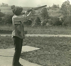 Jody Shooting a Shotgun